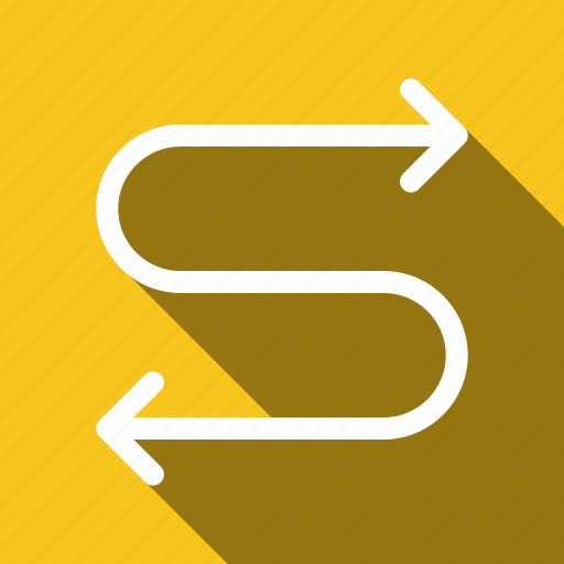 Direction, arrows, navigation, long shadow icon - Download on Iconfinder