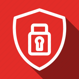 encryption, long shadow, protection, safe, secure, security icon