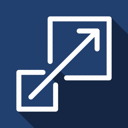Enlarge, expand, scale, zoom, long shadow icon - Download on Iconfinder