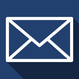 email, envelope, inbox, long shadow, message icon