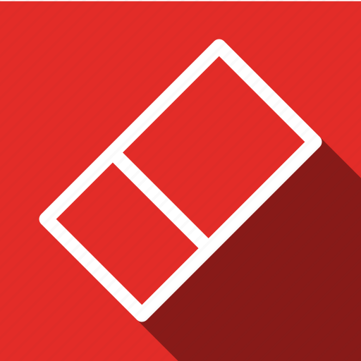 Clean, erase, cleaning, delete, long shadow icon - Download on Iconfinder
