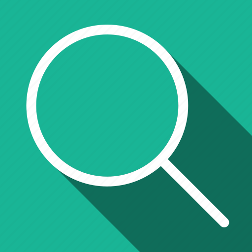 browse, examine, find, long shadow, search, seo icon