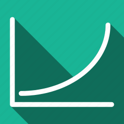 analytics, chart, graph, growth, long shadow icon