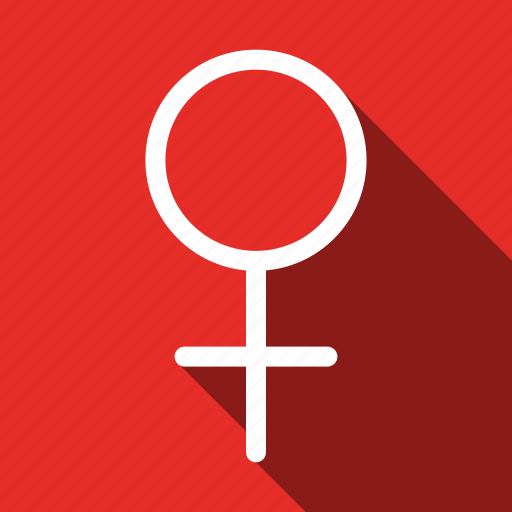 female, long shadow, sex, sign icon