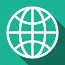 globe, internet, long shadow