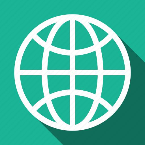globe, internet, long shadow icon