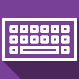 keyboard, long shadow icon