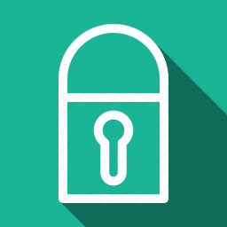 lock, long shadow icon
