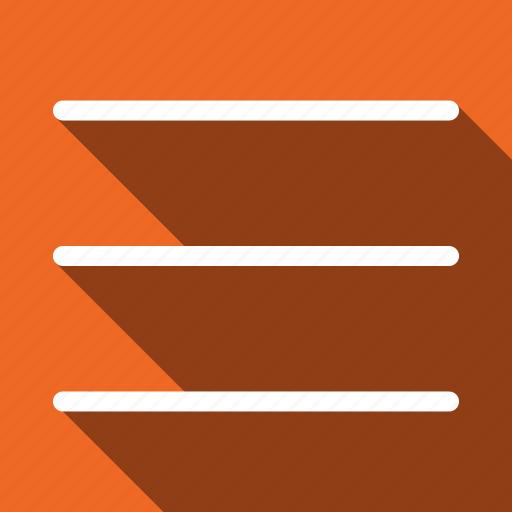 long shadow, menu icon