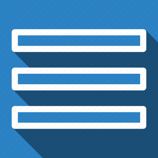 long shadow, menu, navigation icon
