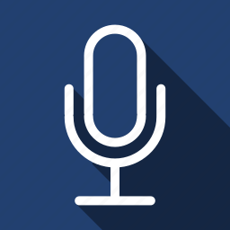 long shadow, mic, microphone icon