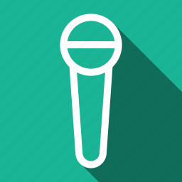 long shadow, microphone icon