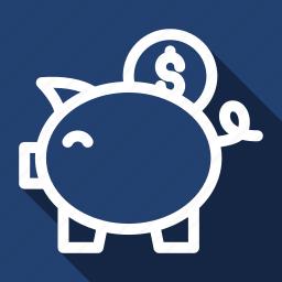 back, finance, long shadow, money icon
