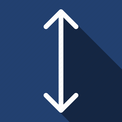 arrow, distance, down, long shadow, move, up icon