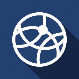 internet, long shadow, network icon