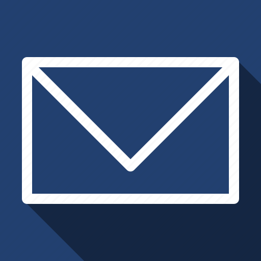 letter, long shadow, mail icon
