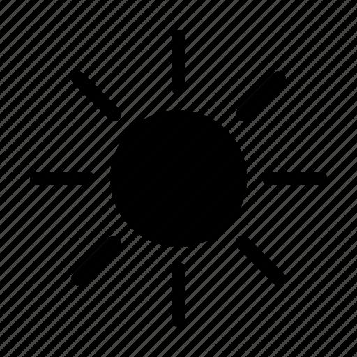 brightness, control, sun icon