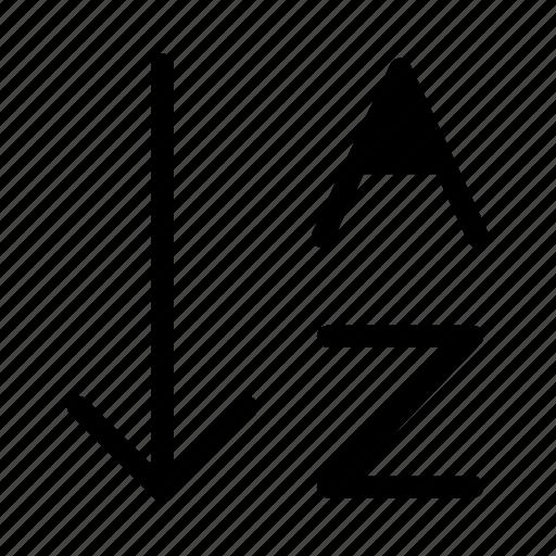alphabet, arrange, letter, order icon