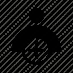 add, new, profile, user icon
