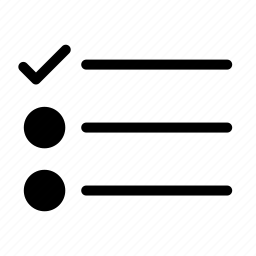 checklist, list, survey, tasks icon
