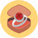 anniversary, chocolate, love, ring icon
