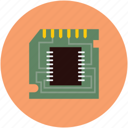 device, intel, micro, processor icon