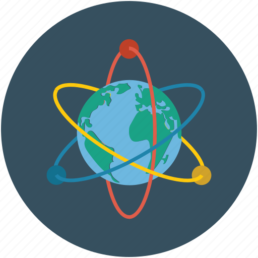 atom, global, particles icon