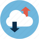 cloud, data, transfer icon
