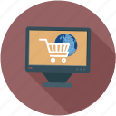 eshopping, online, shopping, window, windowshopping icon