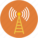 antenna, lifi, radiations, signal, wifi icon
