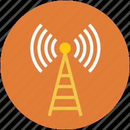 antenna, lifi, radiations, signal, wifi icon