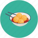 dumplings, food, hungry, meatballs, resturant, sauce icon