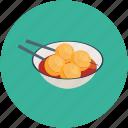 dumplings, meatballs, hungry, resturant, food, sauce icon