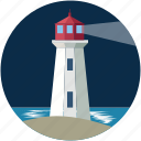 boats, direction, house, light, lighthouse, ships icon