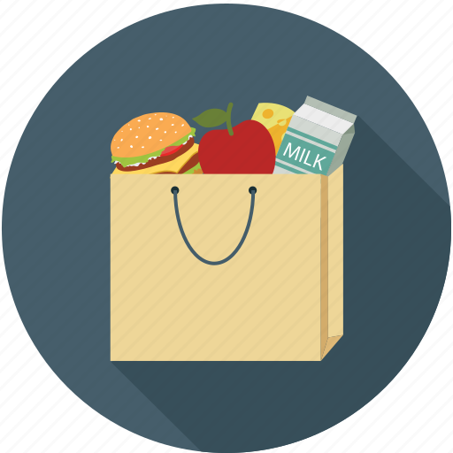 apple, bag, burger, buy, cart, ecommerce, shopping icon