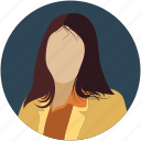 avatar, badge, girl, identity, lady, people, person, user, women icon