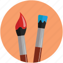 artist, brush, brushes, colour, drawing, marker, paint, painter icon