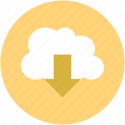 cloud, computing, download, file, get, install icon