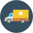 ambulance, doctor, health, hospital, insurance, transportation, vehicle icon