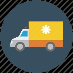 ambulance, doctor, health, hospital, insurance, transportation, vehicle icon