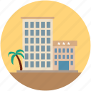 flats, holidays, hotel, resort icon