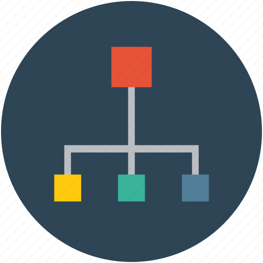 connection, join, lan, network, technology icon