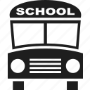 bus, education, learning, school, school bus, schoolbus icon