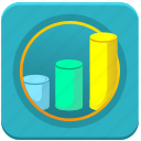 charts, database, economics, info, statistics icon