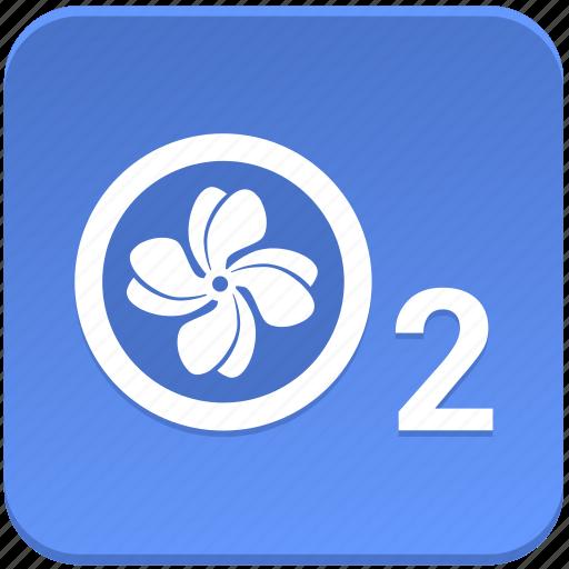 air, app, climat, condition, control, o2, oxigen icon