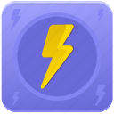 app, electric, electricity, shock icon