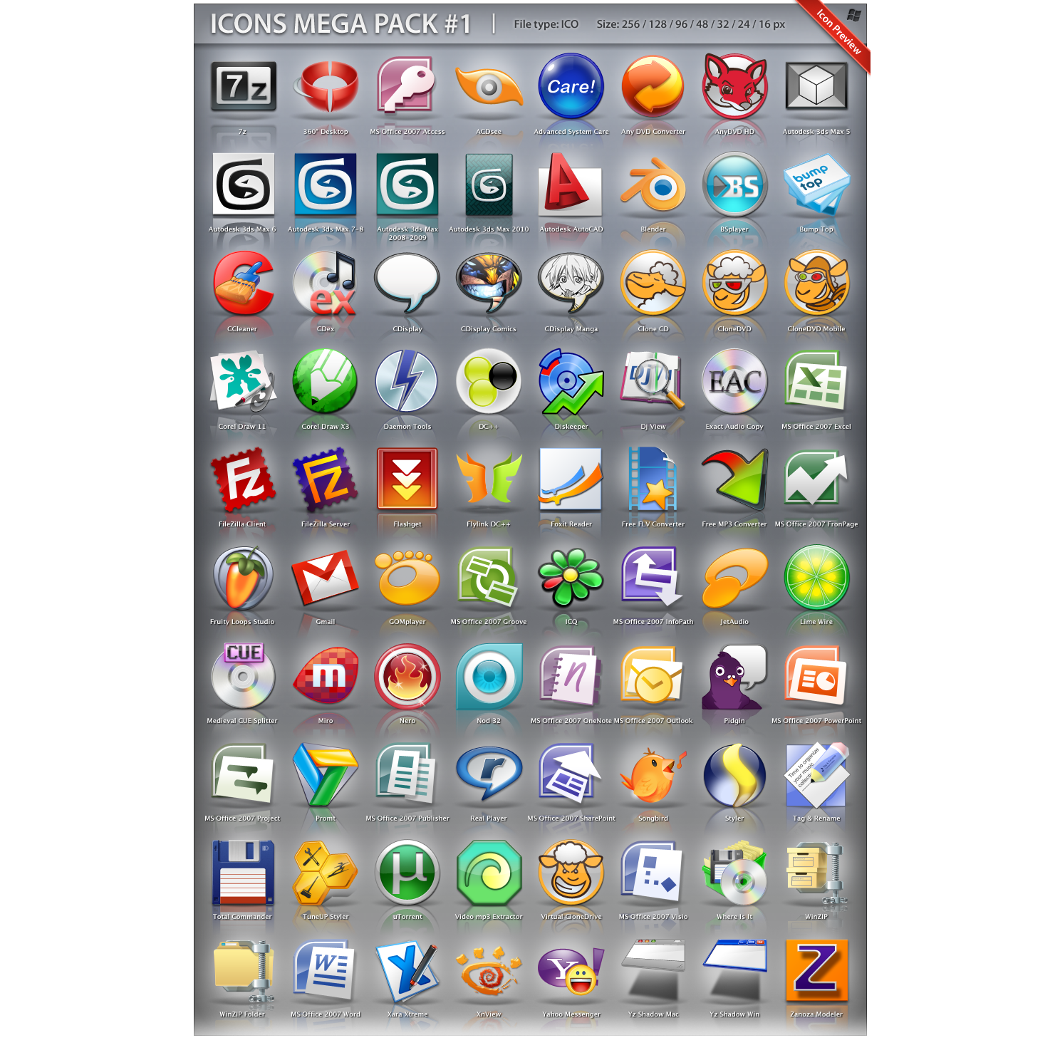 ipreview, mega, pack icon