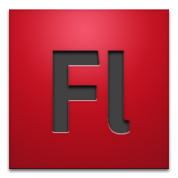adobe, cs4, flash icon