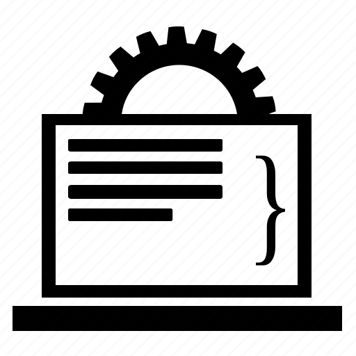 algorithm, coding, front-end, html, program, programming, script icon