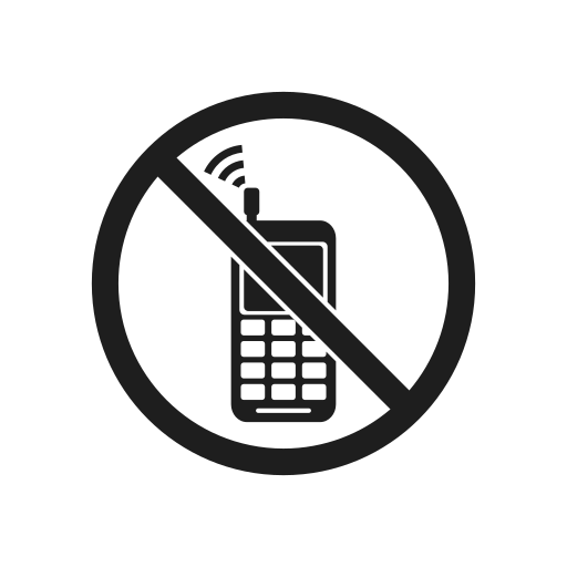 impossible, phone, prevention, prohibiting sign, prohibition, prohibition sign, warning icon